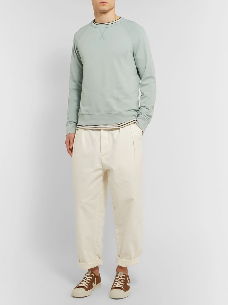 Officine Generale Loopback Cotton-Terry Sweatshirt