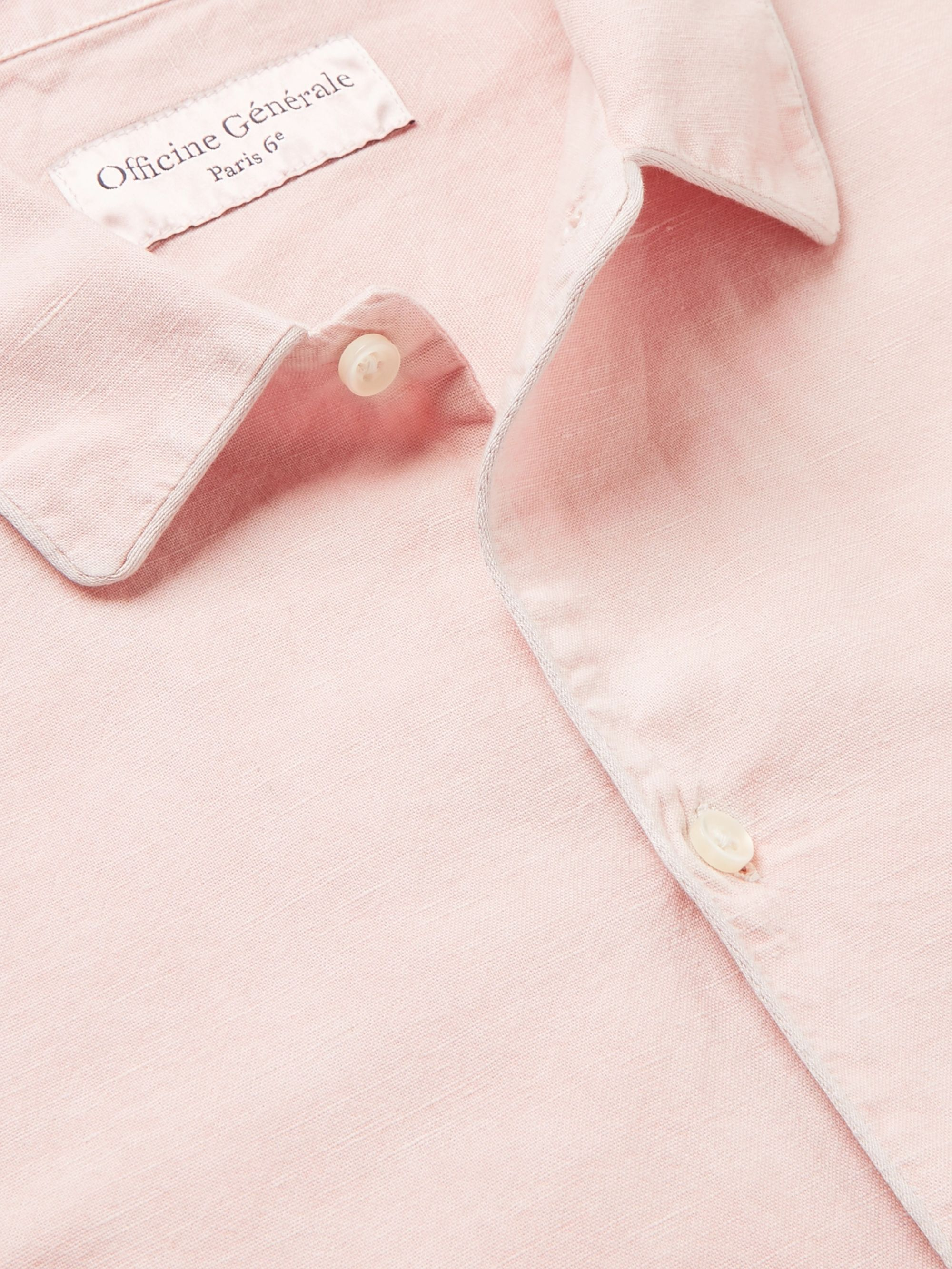 Officine Generale Cotton and Linen-Blend Shirt