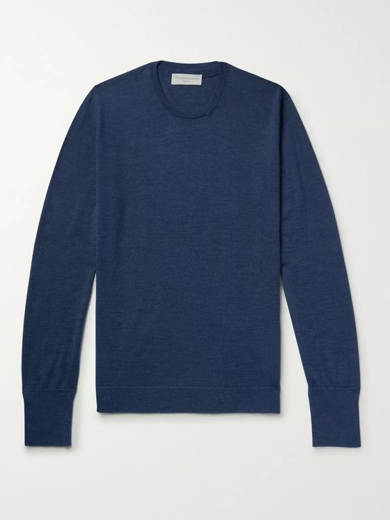 Officine Generale Slim-Fit Wool and Silk-Blend Sweater