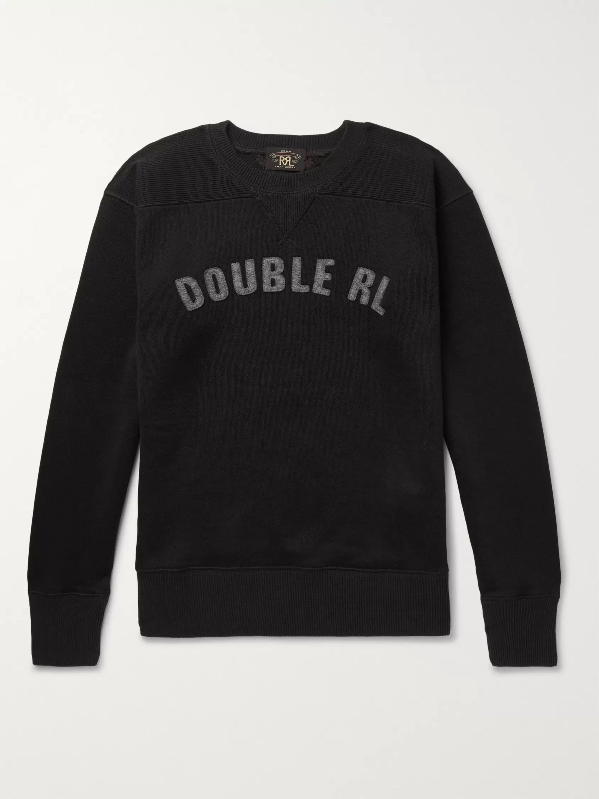 Logo Appliquéd Fleece Back Jersey Sweatshirt by Rrl