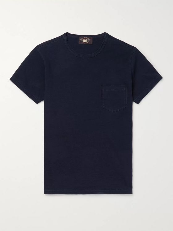 RRL Slim-Fit Indigo-Dyed Cotton-Jersey T-Shirt