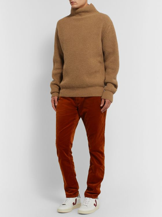 Todd Snyder Garment-Dyed Cotton-Blend Corduroy Trousers