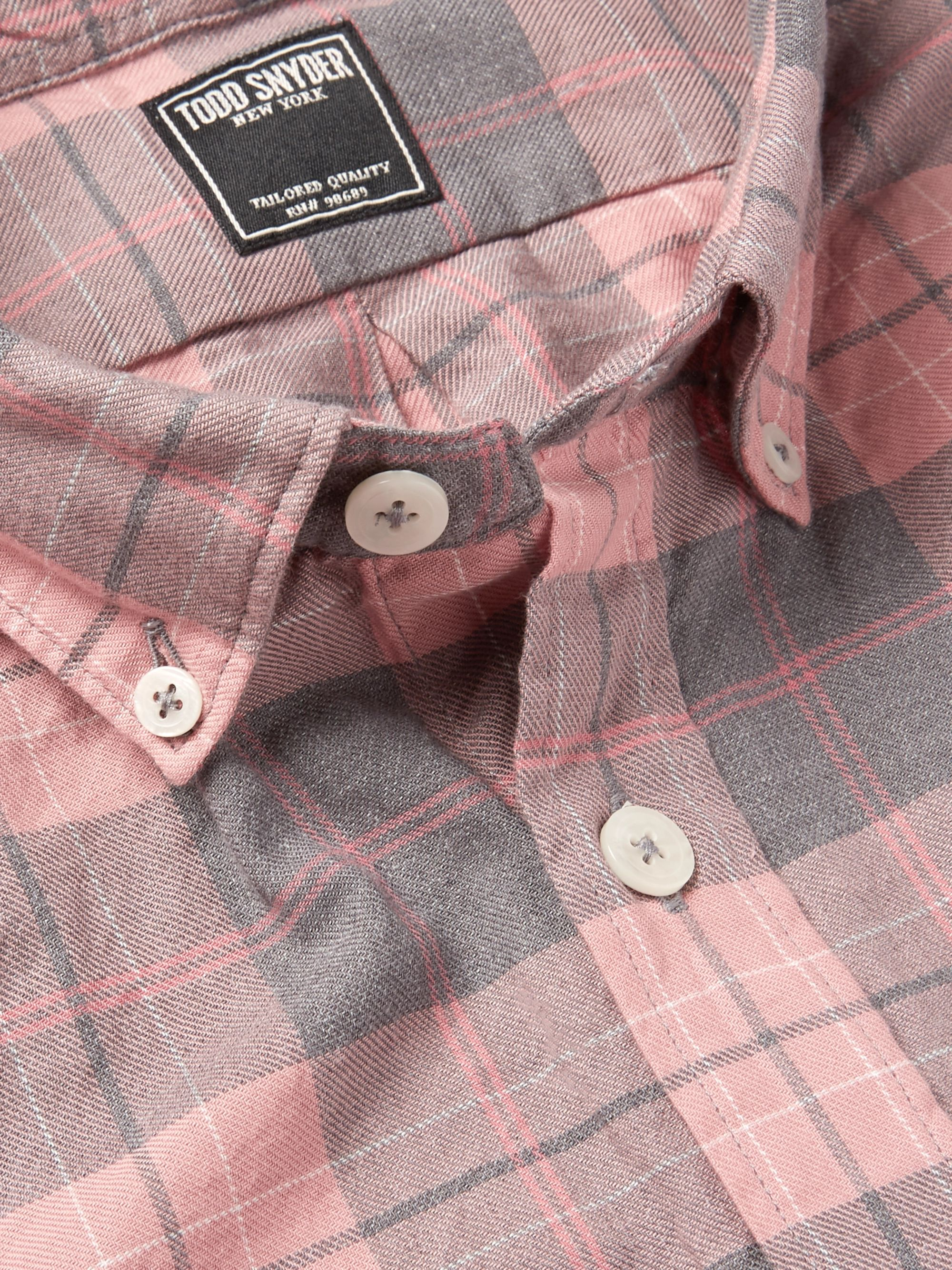 Todd Snyder Button-Down Collar Checked Cotton-Flannel Shirt