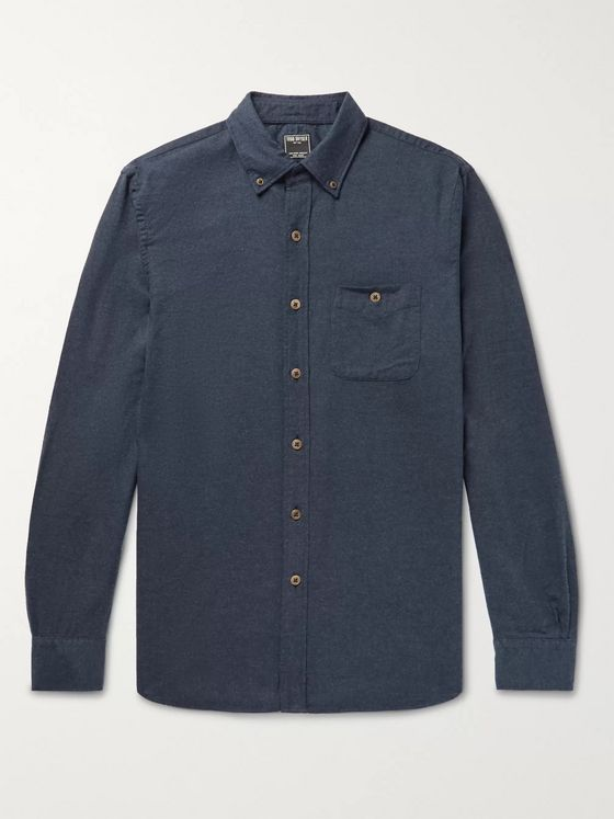 Todd Snyder Button-Down Collar Cotton and Wool-Blend Flannel Shirt