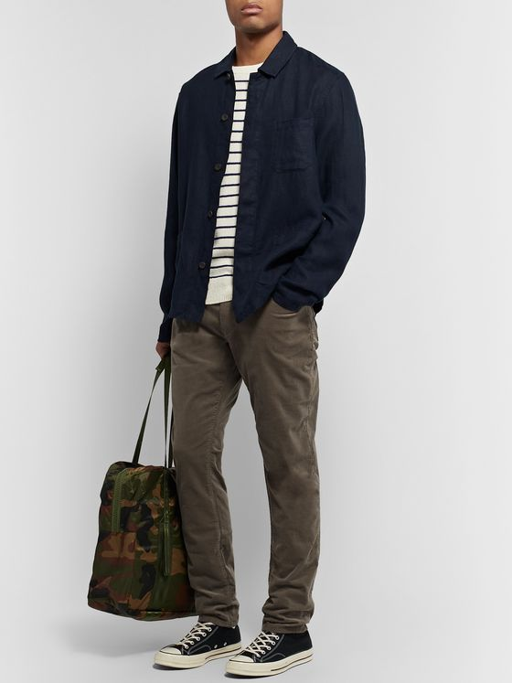 Todd Snyder Slim-Fit Garment-Dyed Cotton-Blend Corduroy Trousers