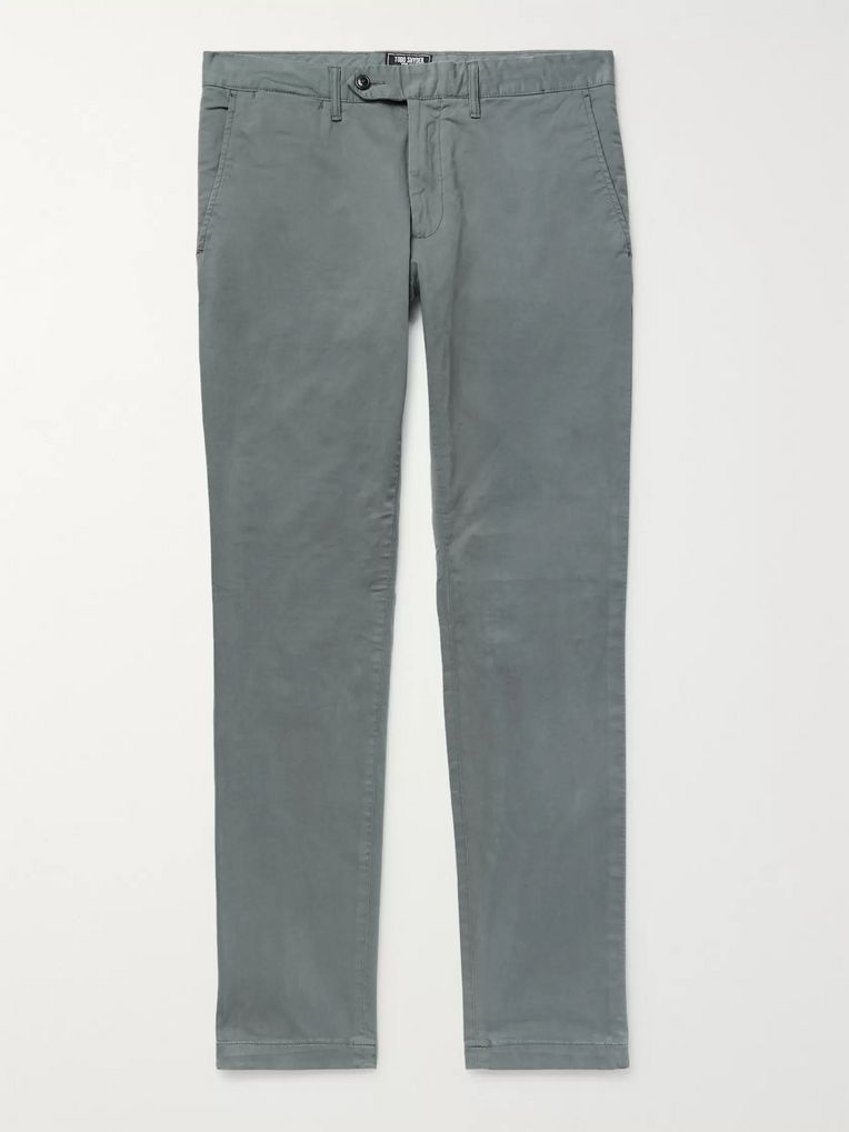 Todd Snyder Charcoal Slim-Fit Stretch-Cotton Twill Chinos