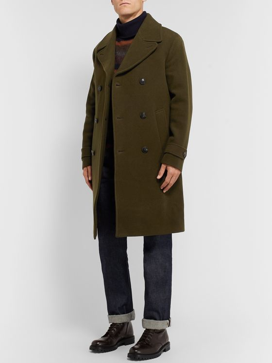 Todd Snyder Double-Breasted Virgin Wool Coat