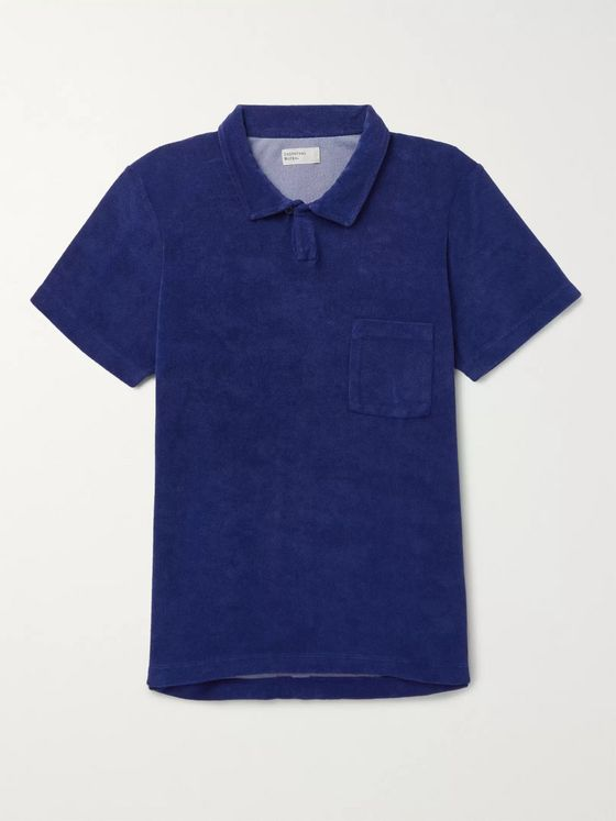Universal Works Vacation Cotton-Blend Terry Polo Shirt