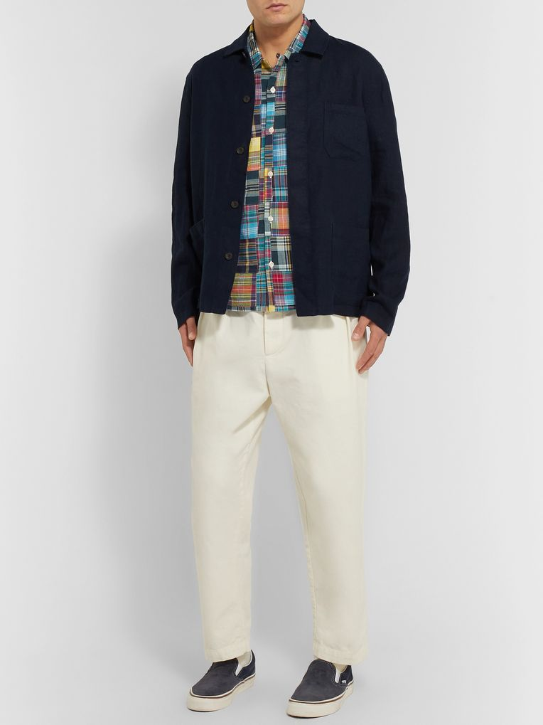 Universal Works Patchwork Checked Cotton Shirt