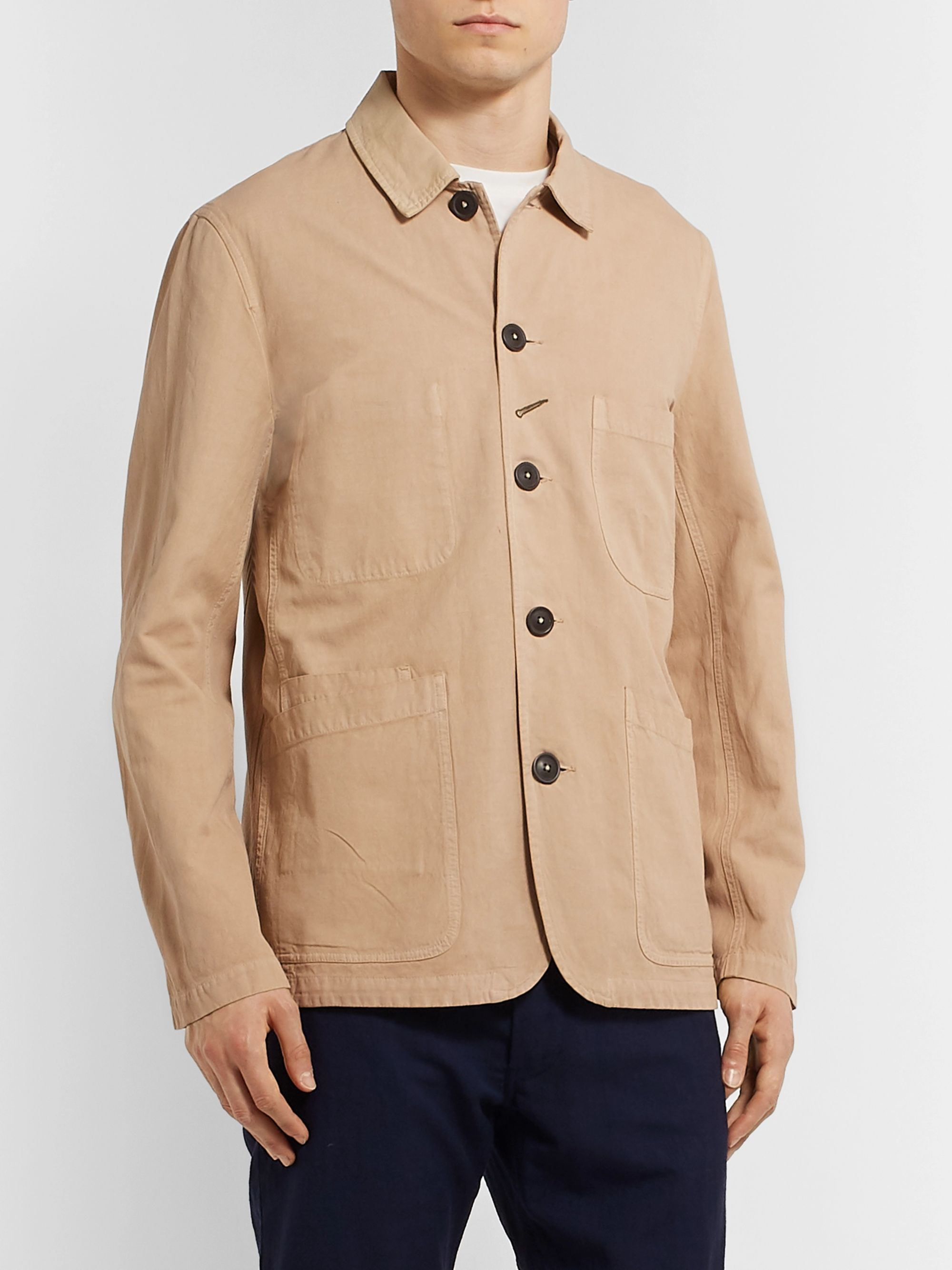 Universal Works Baker Linen and Cotton-Blend Canvas Jacket