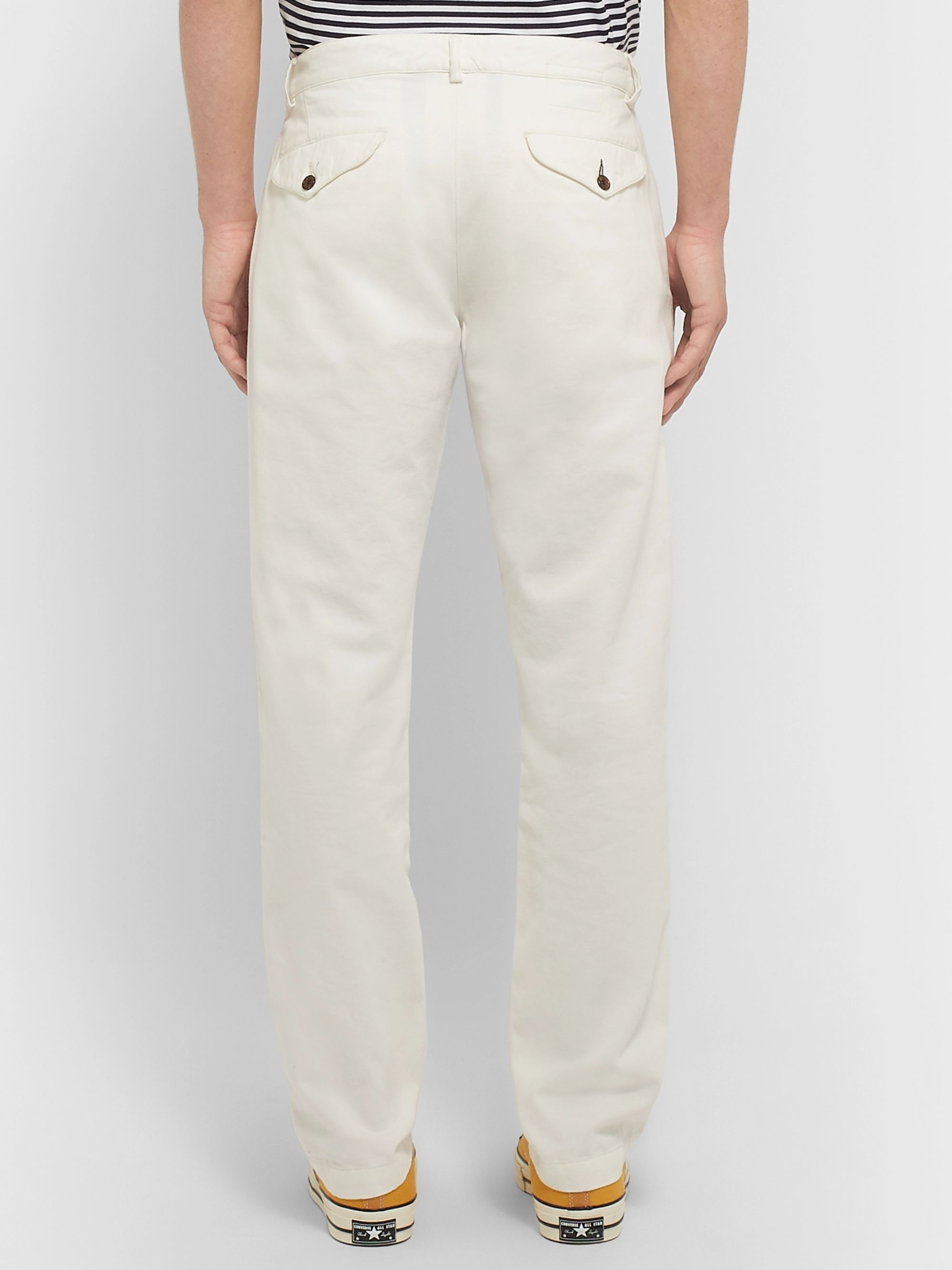 Universal Works Aston Slim-Fit Garment-Dyed Cotton-Canvas Trousers