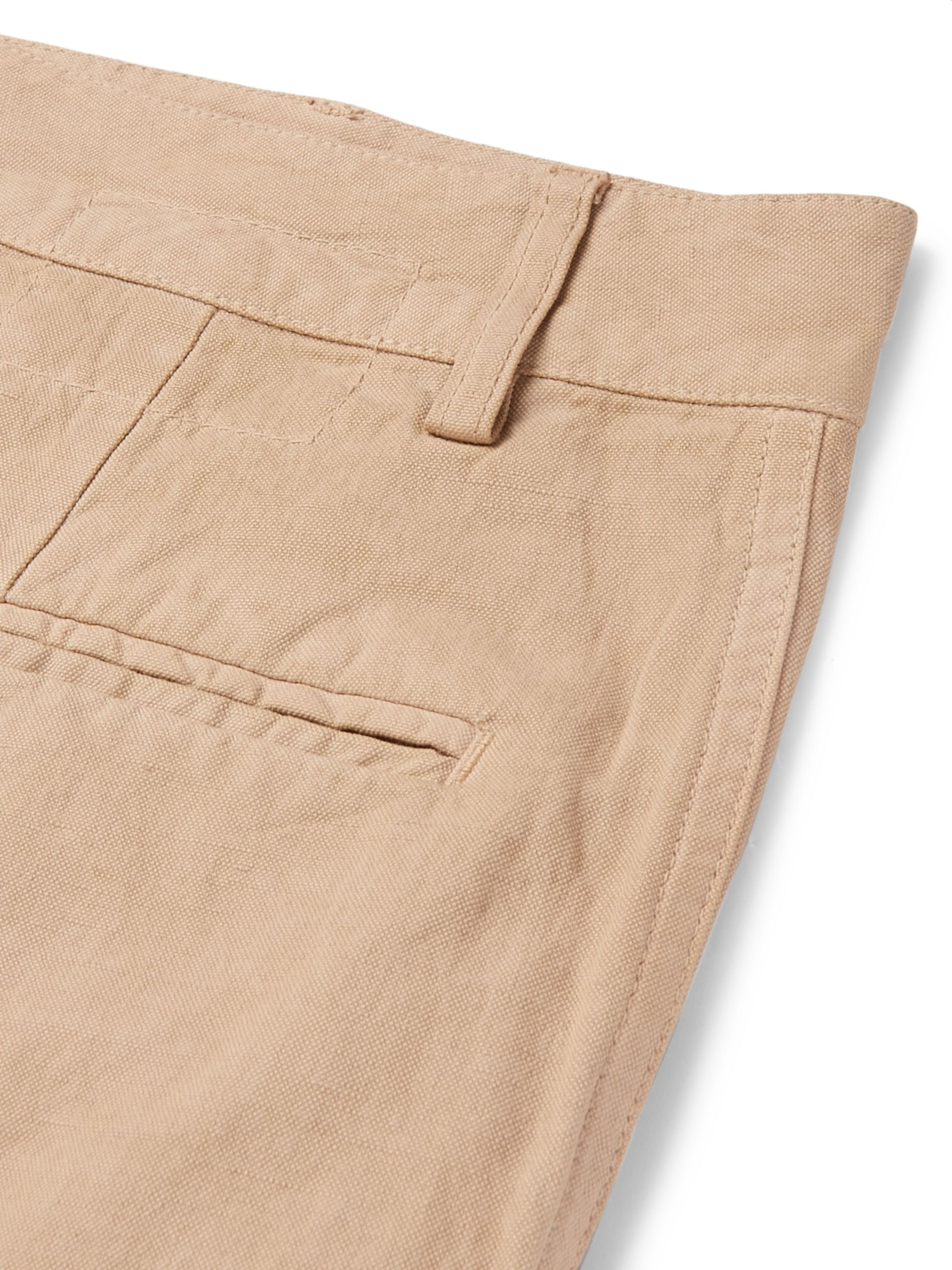 Universal Works Linen and Cotton-Blend Canvas Shorts