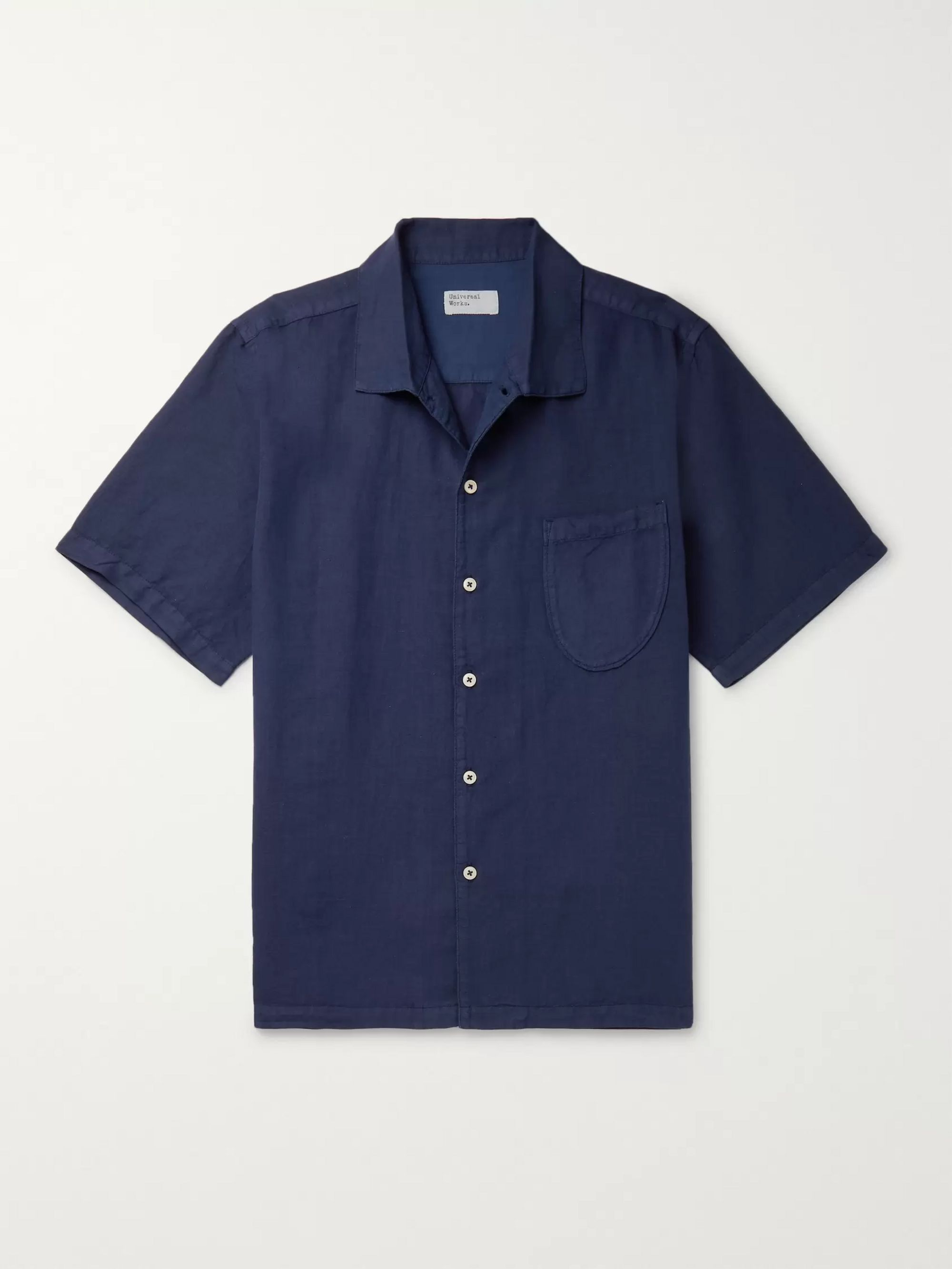 Universal Works Overdyed Linen and Cotton-Blend Shirt