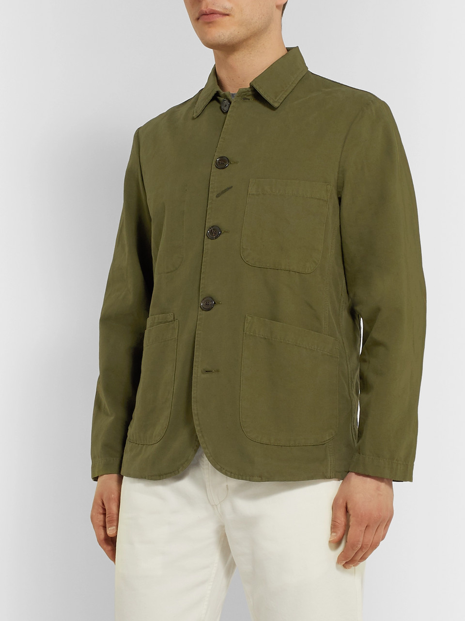 Universal Works Baker Garment-Dyed Cotton-Canvas Chore Jacket
