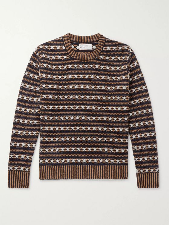 Universal Works Batton Wool-Blend Jacquard Sweater