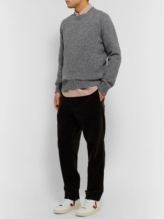 Universal Works Mélange Wool-Blend Sweater