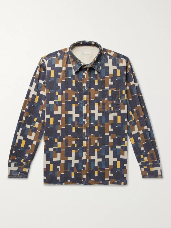 Universal Works Printed Cotton-Corduroy Shirt
