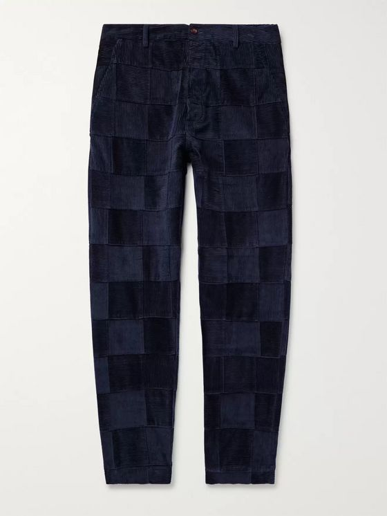 Universal Works Tapered Patchwork Cotton-Corduroy Trousers