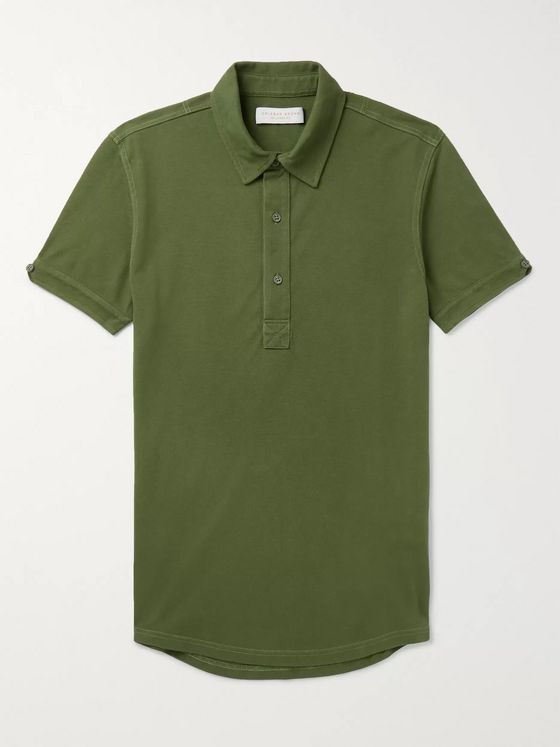 Orlebar Brown Sebastian Slim-Fit Cotton-Piqué Polo Shirt