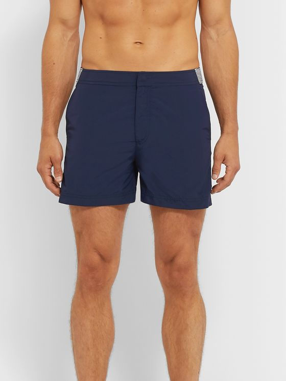 Orlebar Brown Setter Short-Length Striped Swim Shorts