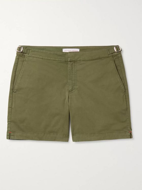 Orlebar Brown Bulldog Cotton-Blend Twill Shorts