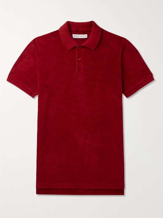 Orlebar Brown Jarrett Slim-Fit Cotton-Terry Polo Shirt