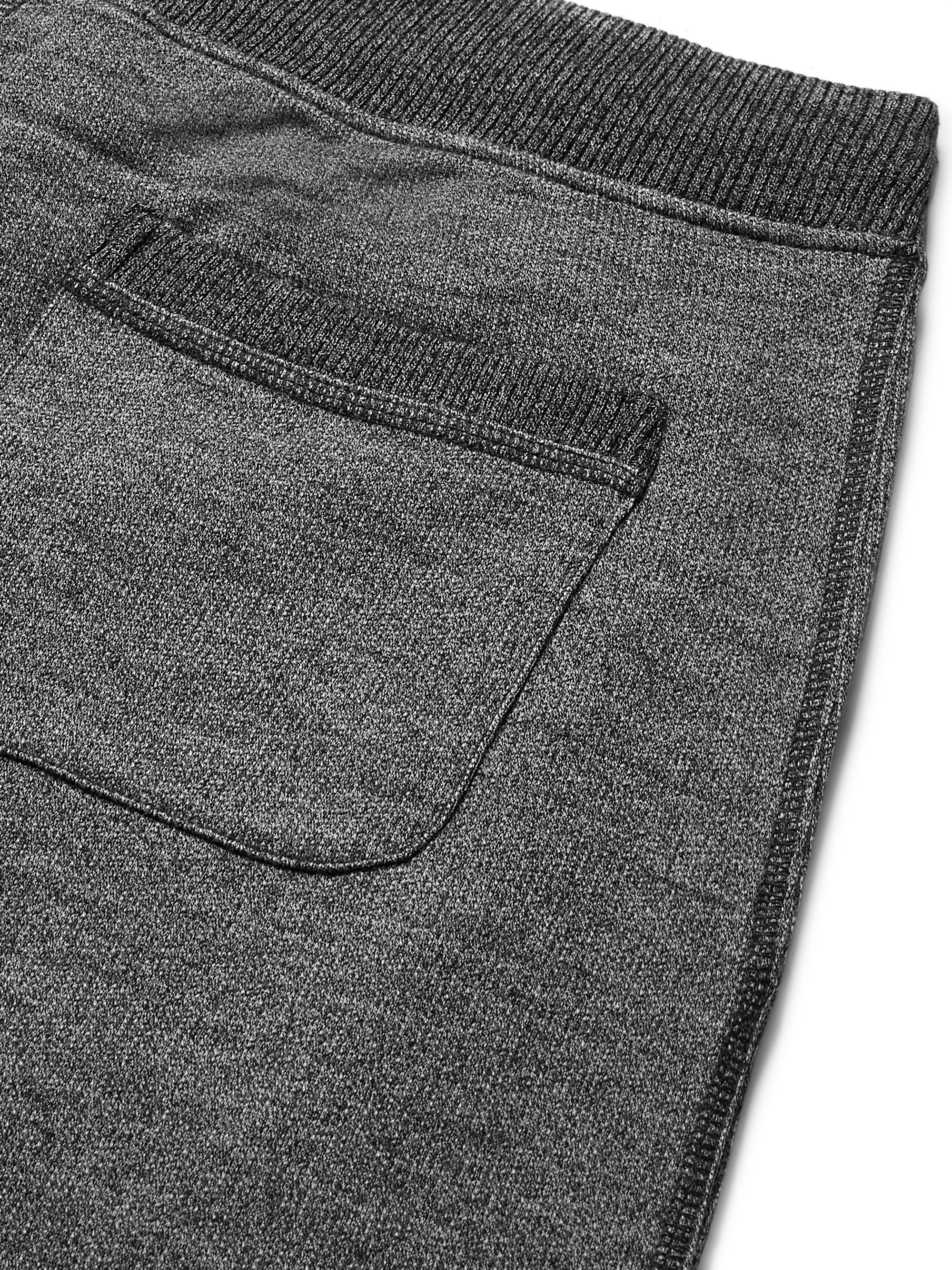 Orlebar Brown Beagi Slim-Fit Tapered Mélange Cotton and Wool-Blend Sweatpants