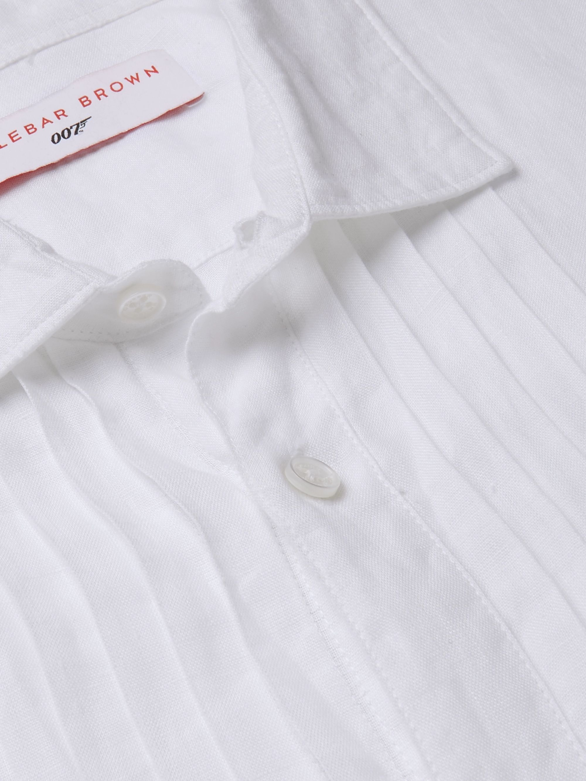 Orlebar Brown + 007 On Her Majesty's Service Pleated Linen Shirt