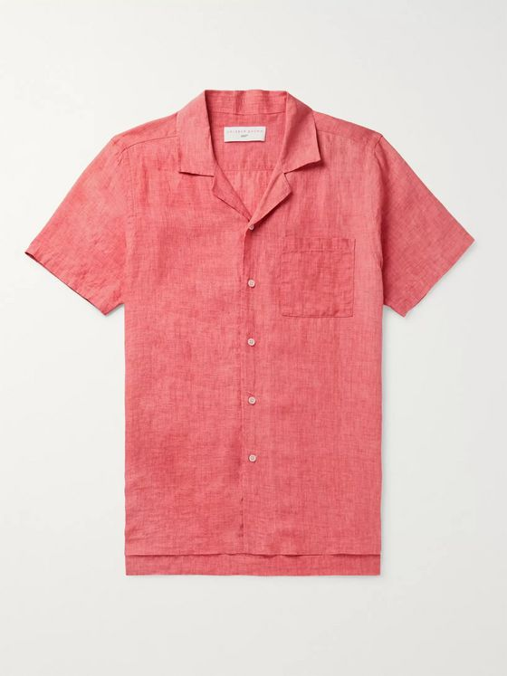 Orlebar Brown + 007 Thunderball Camp-Collar Linen Shirt