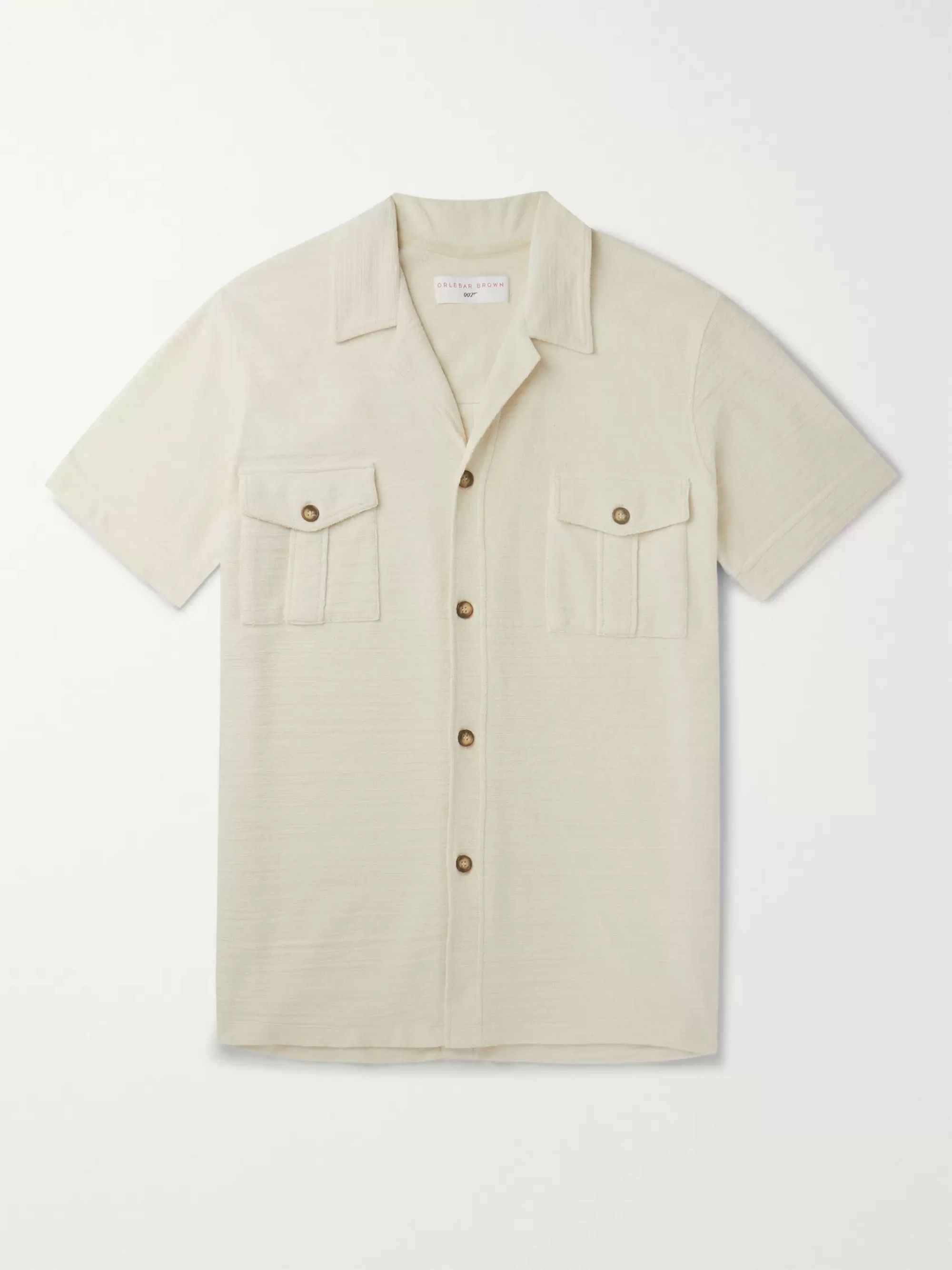 Orlebar Brown + 007 Diamonds Are Forever Slim-Fit Camp-Collar Cotton-Terry Shirt