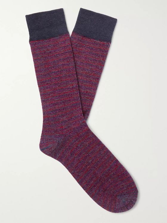 Anonymous Ism Striped Jacquard Socks