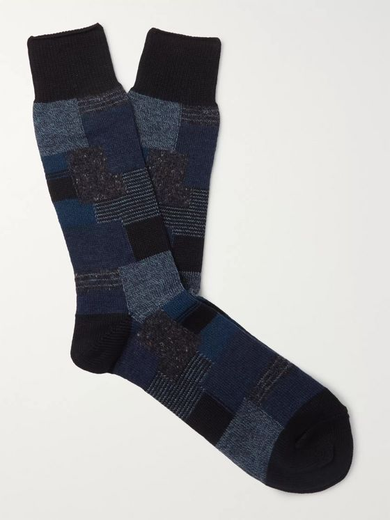 Anonymous Ism Patchwork Jacquard Socks