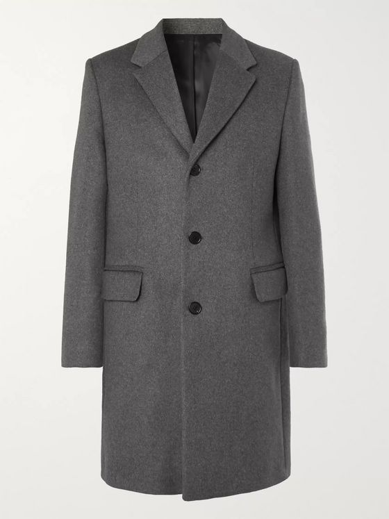 Acne Studios Mélange Wool-Blend Overcoat
