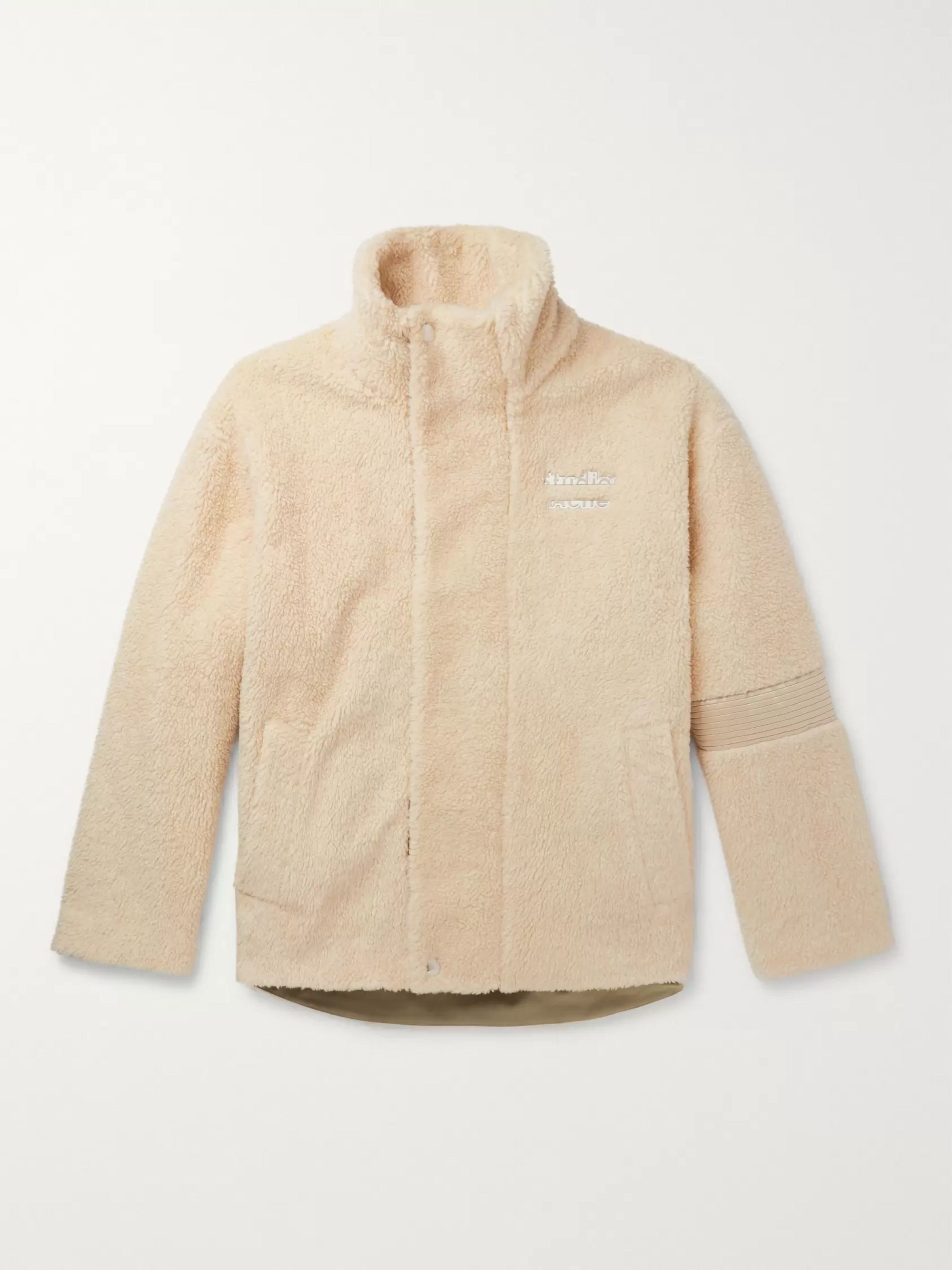 Acne Studios Oversized Logo-Detailed Fleece Jacket