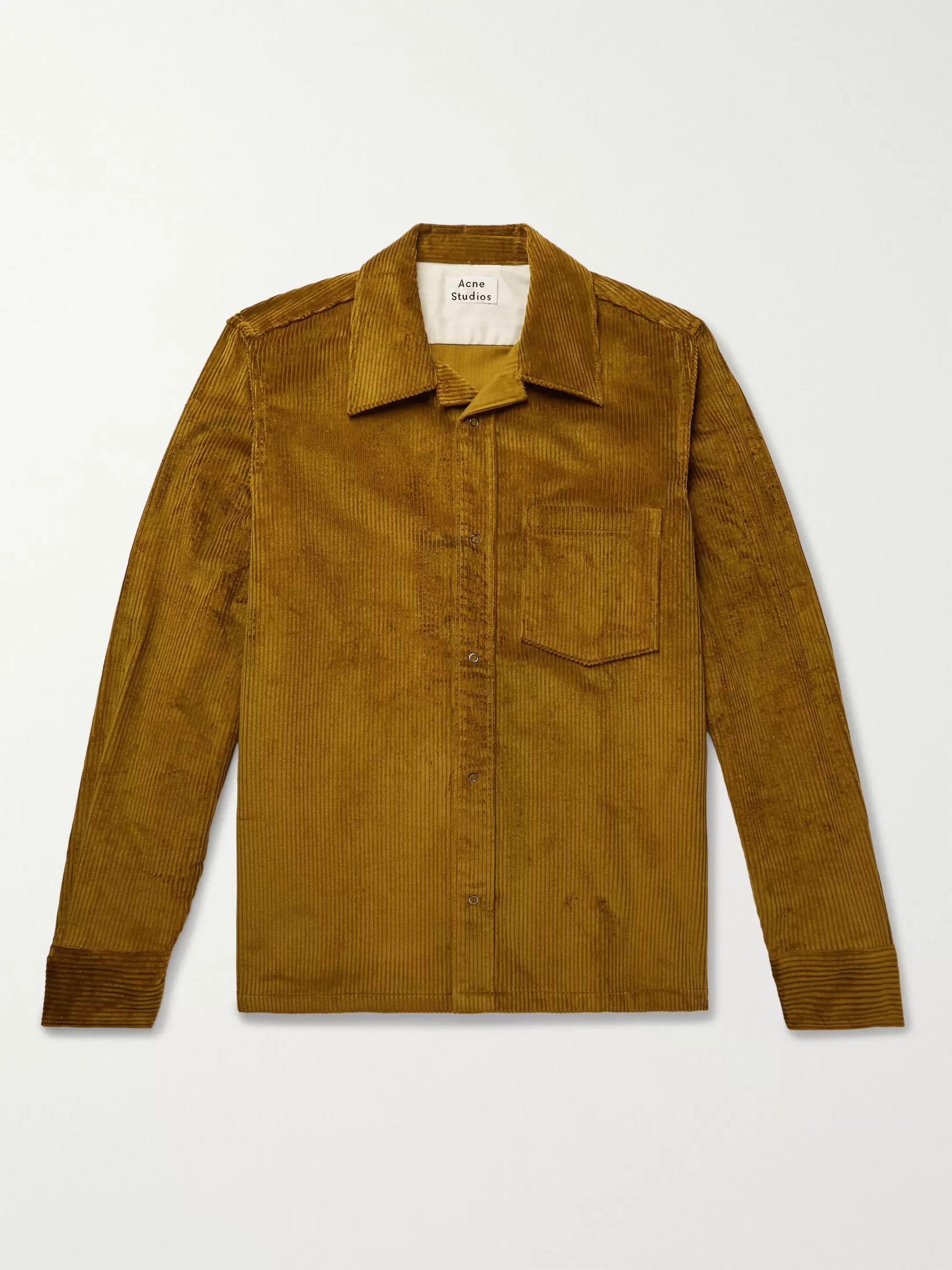 camp-collar-cotton-corduroy-overshirt by acne-studios