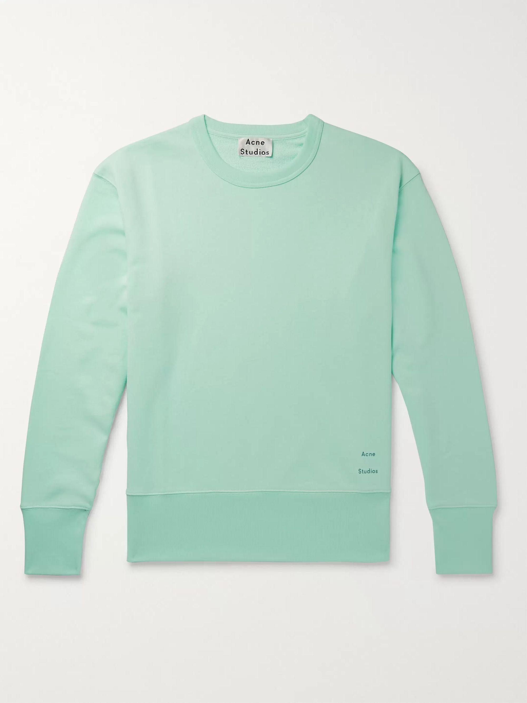 Fayze Logo Print Loopback Cotton Jersey Sweatshirt