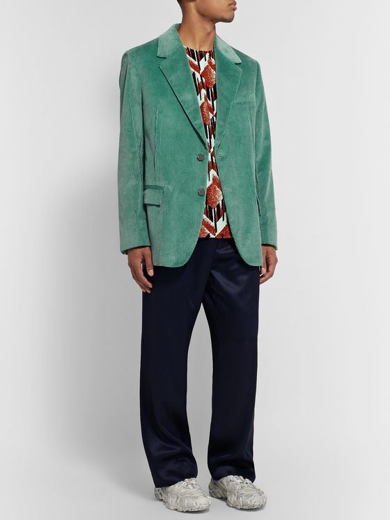 Acne Studios Mint Jagger Cotton-Corduroy Suit Jacket