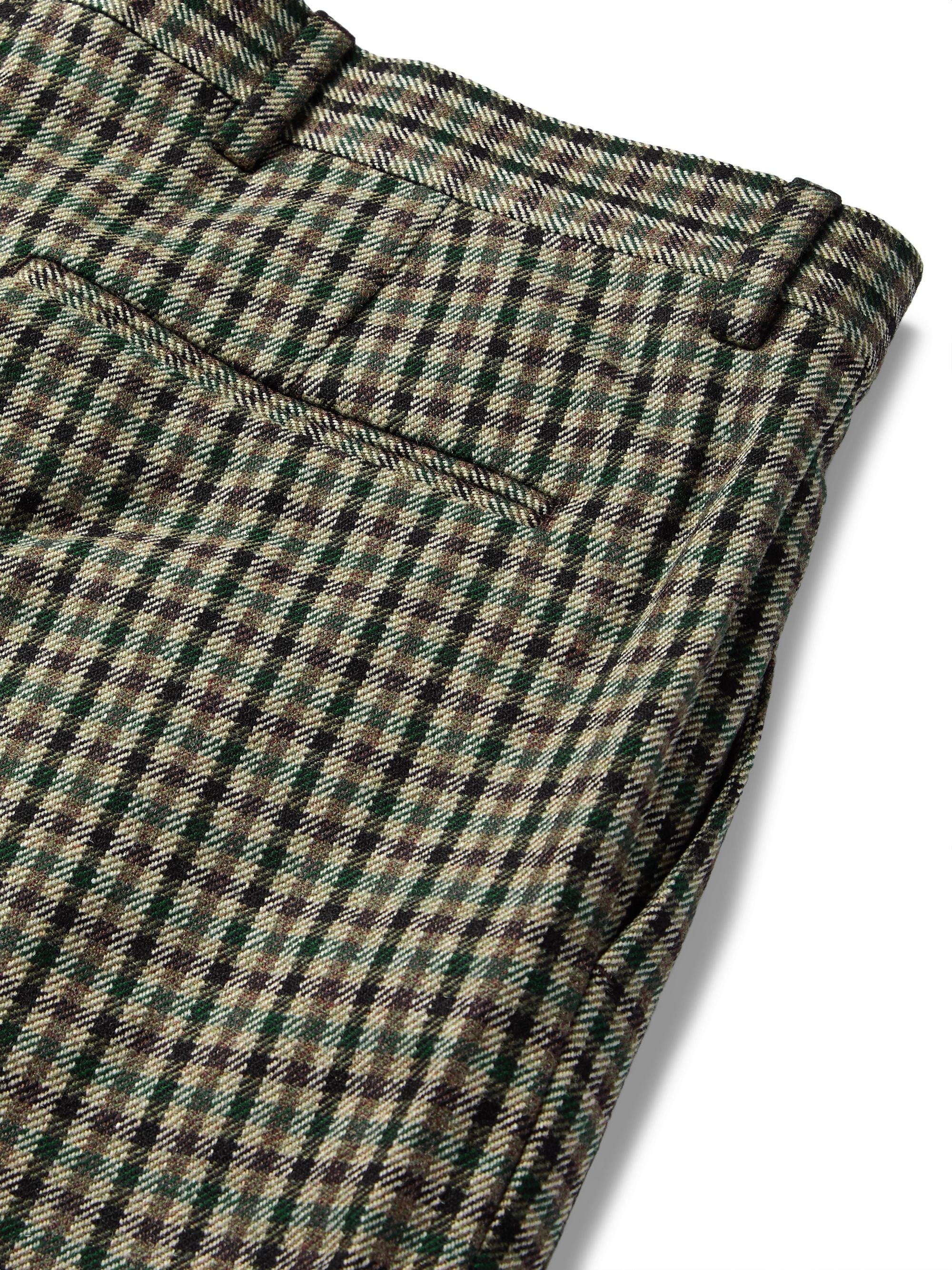 Acne Studios Brown Boston Checked Wool-Blend Suit Trousers