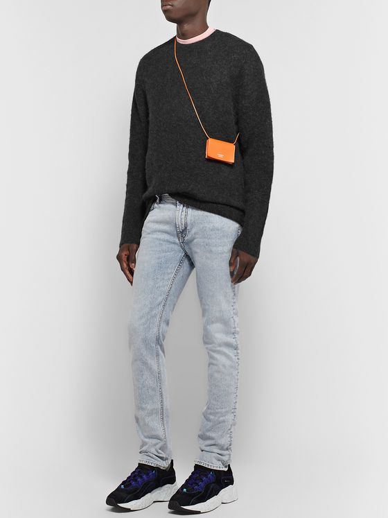 Acne Studios Mélange Textured-Knit Sweater