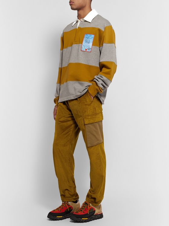 Acne Studios Payden Canvas-Panelled Cotton-Corduroy Cargo Trousers