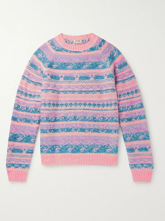 Acne Studios Karlos Fair Isle Jacquard Sweater