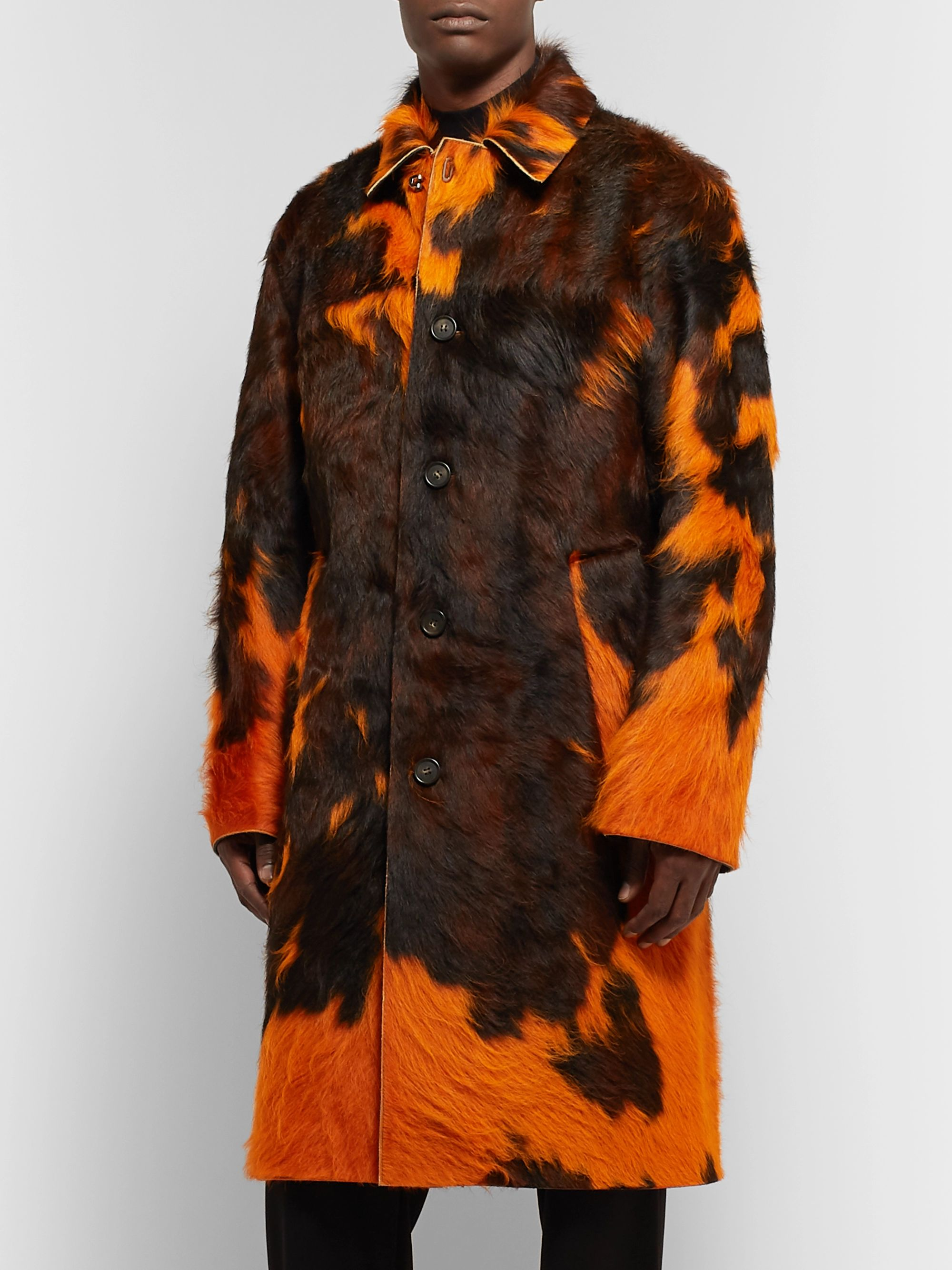 Acne Studios Laius Overdyed Calf Hair Coat