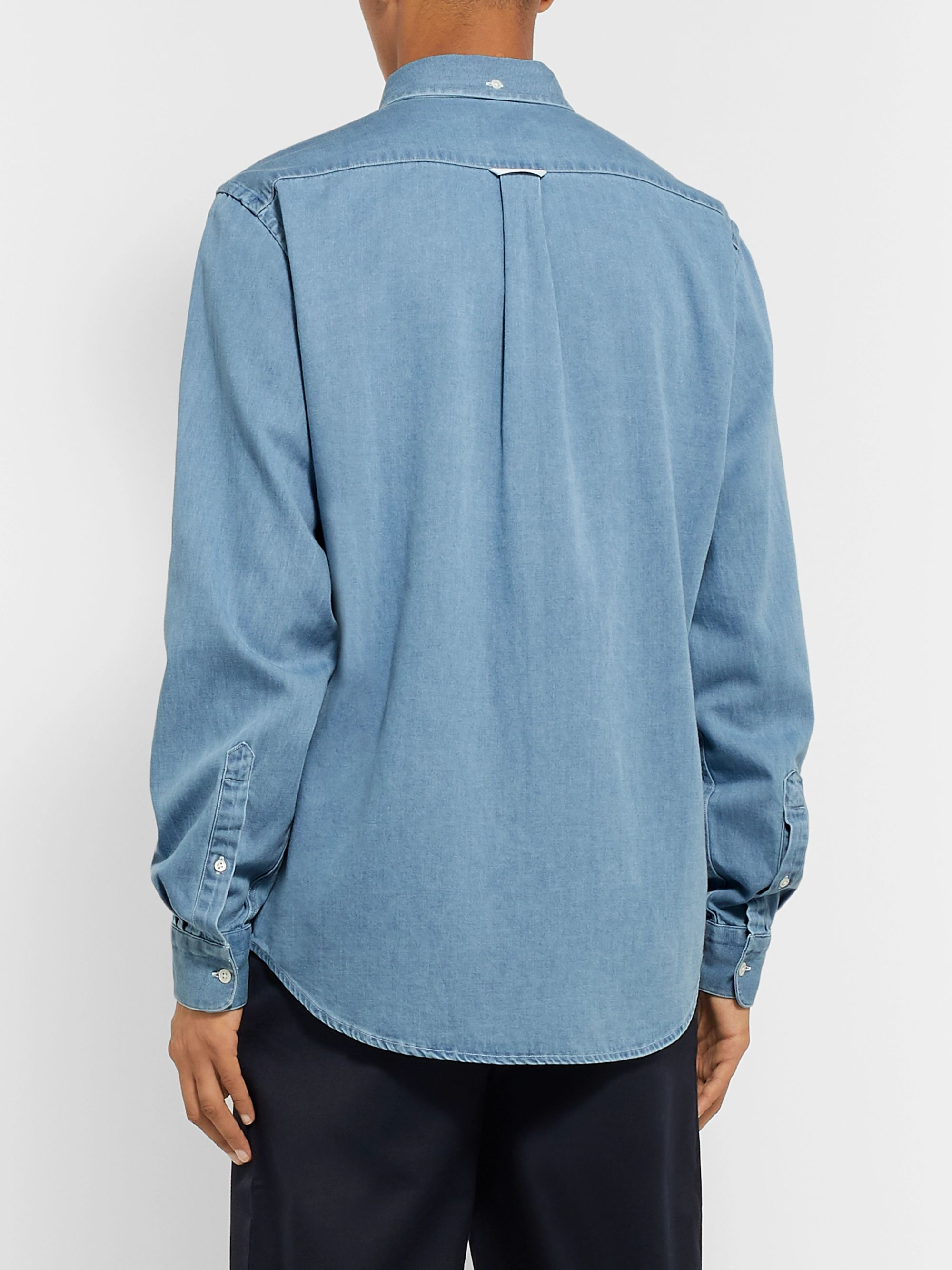 Acne Studios Isherwood Button-Down Collar Cotton-Chambray Shirt