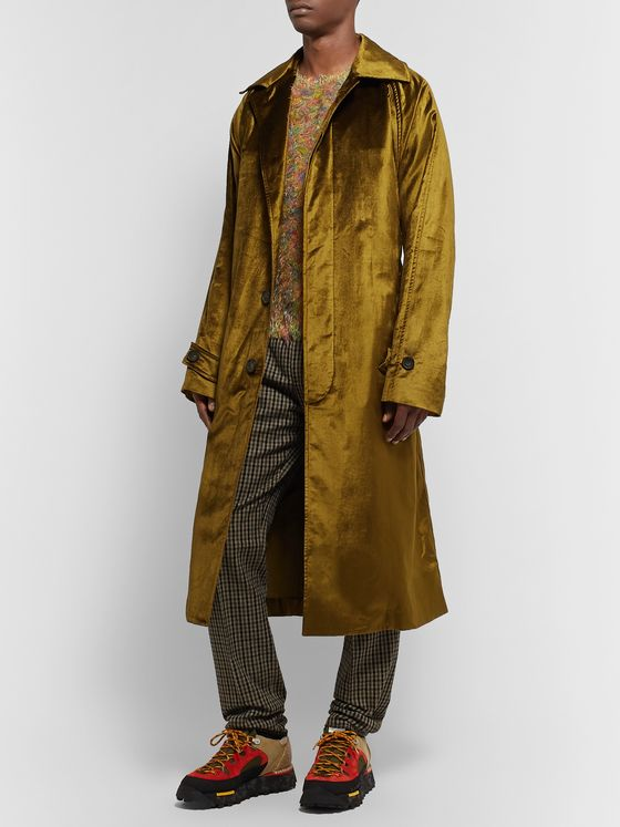 Acne Studios Oversized Cotton-Blend Velvet Coat