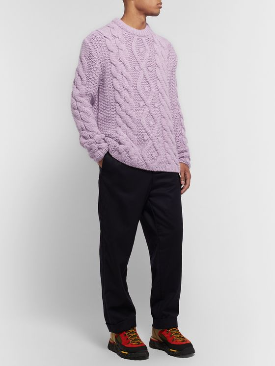 Acne Studios Oversized Cable-Knit Sweater