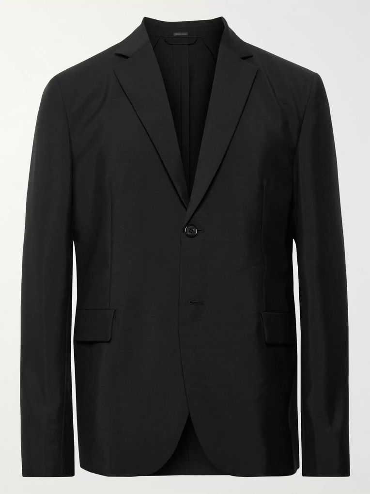 Acne Studios Black Antibes Unstructured Wool and Mohair-Blend Blazer