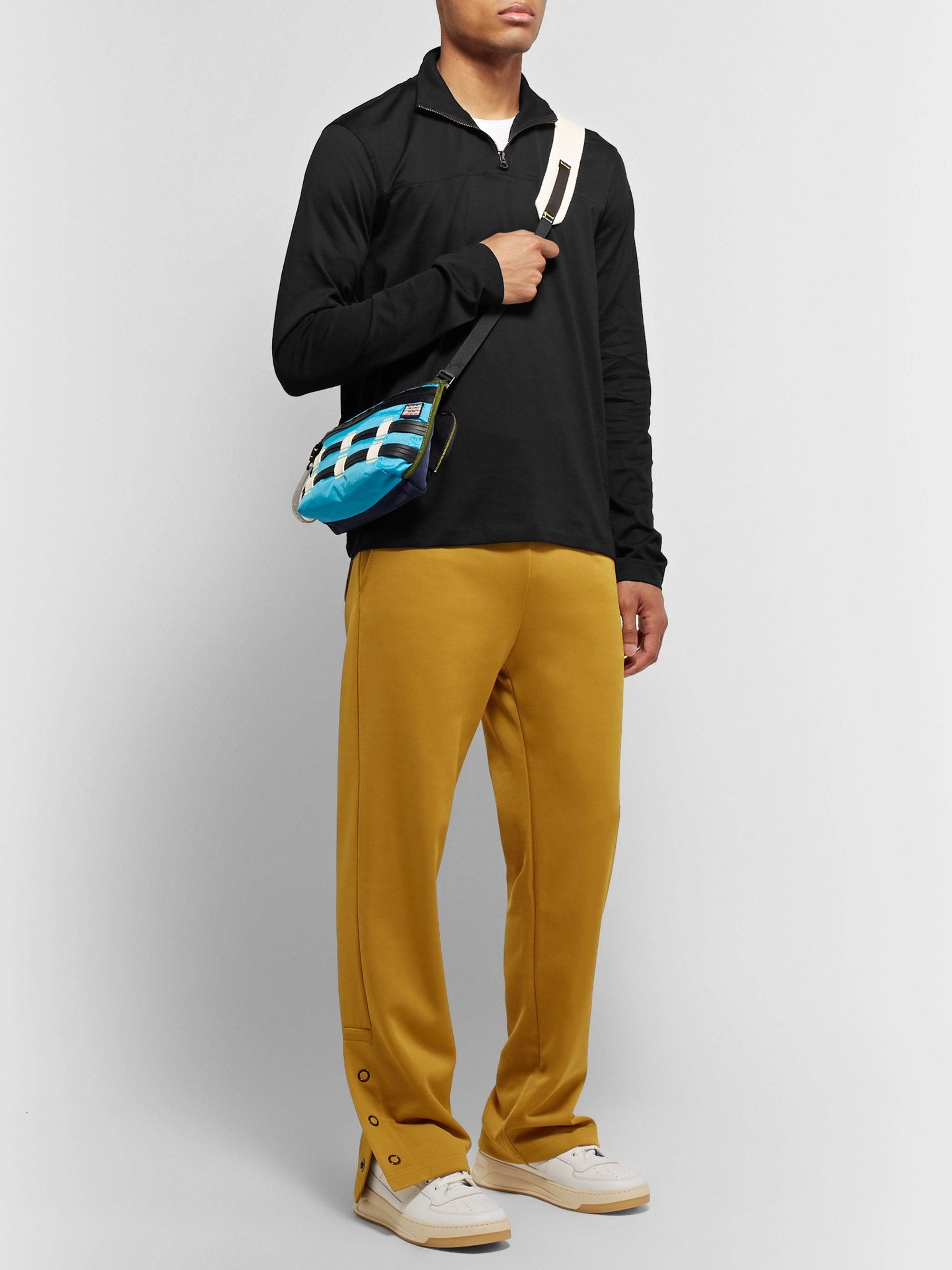 Acne Studios Evias Cotton-Jersey Half-Zip Shirt