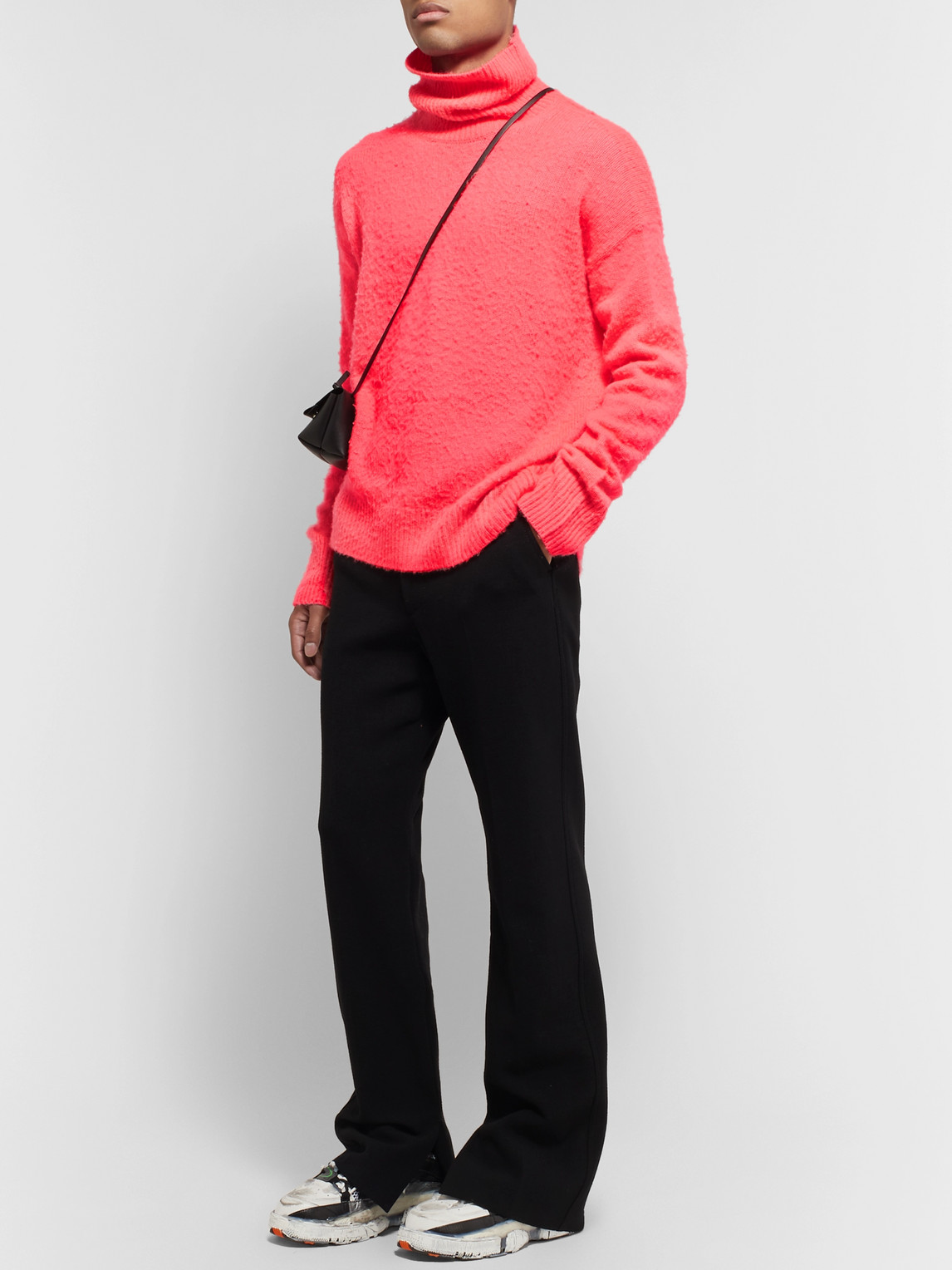 Acne Studios Sweaters NYRAN BRUSHED WOOL AND CASHMERE-BLEND ROLLNECK SWEATER