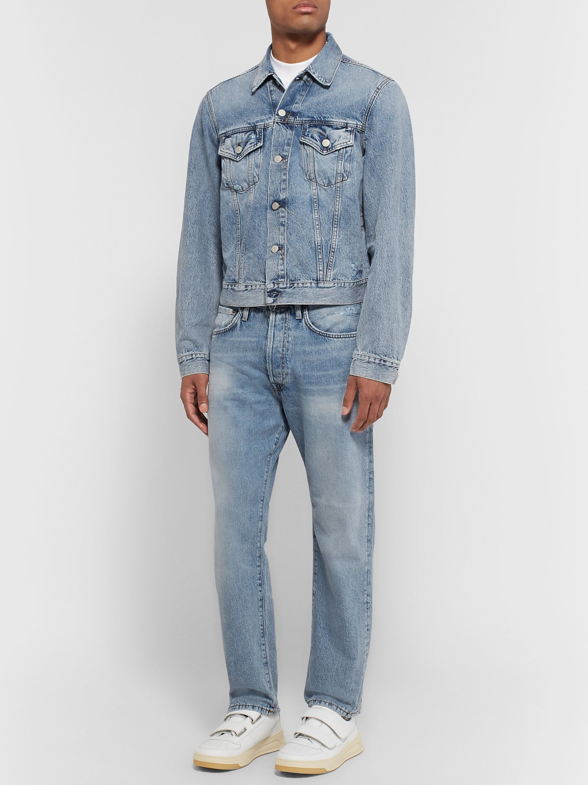 Acne Studios Distressed Denim Trucker Jacket