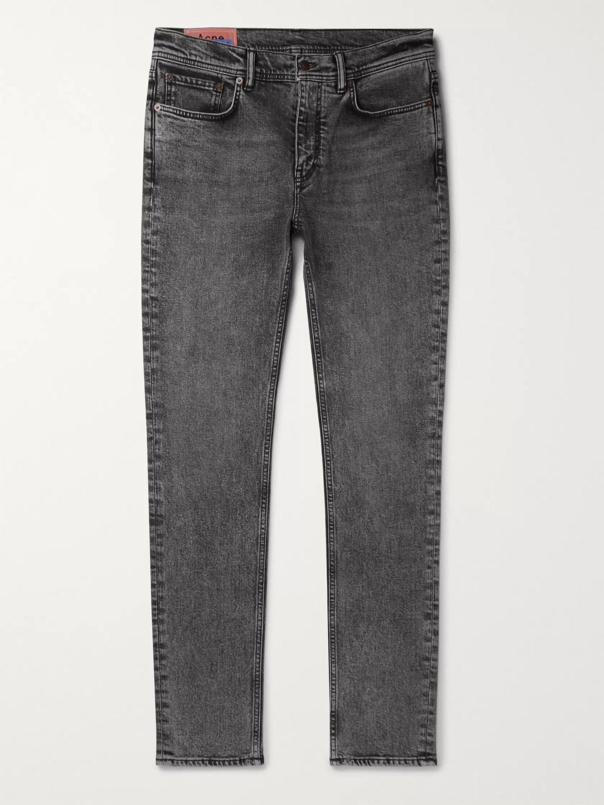 아크네 스튜디오 Acne Studios Charcoal Skinny-Fit Denim Jeans,Charcoal